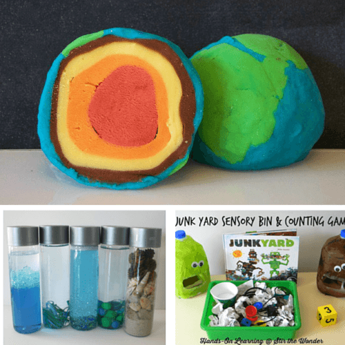Learn about the Earth with these preschool sensory experiences!