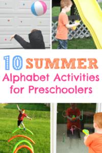 Top 10 Summer Alphabet Activities for Preschoolers