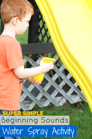 Beginning Sounds Activity with Water and a Spray Bottle