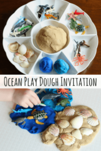 Ocean Play Dough Invitation