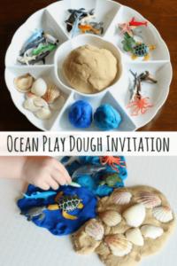 Ocean Play Dough Invitation