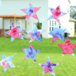 Red, White and Blue Craft: Patriotic Suncatcher Stars
