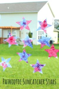 Red, White and Blue Craft: Patriotic Suncatcher Stars