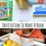 Preschool Invitation to Make Books