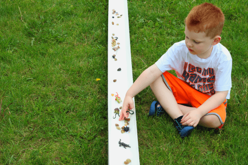 Use a rain gutter to make a river habitat and have fun playing in the water!