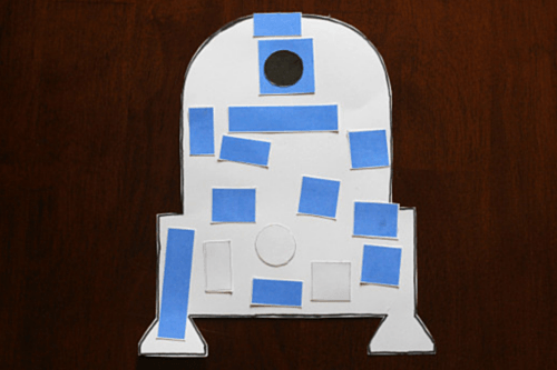 photo regarding Star Wars Printable Crafts referred to as Star Wars R2-D2 Craft for Children
