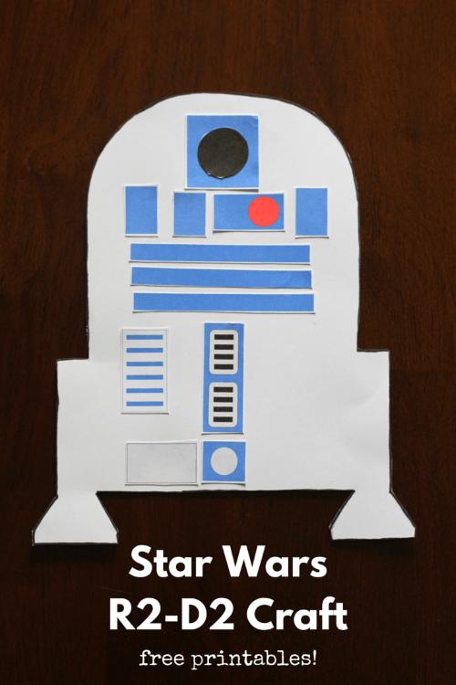 Star Wars R2-D2 Craft for Kids Free Printable older kids