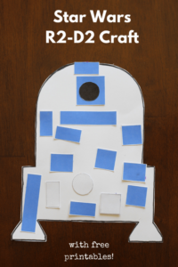 Star Wars R2-D2 craft for toddlers and preschoolers