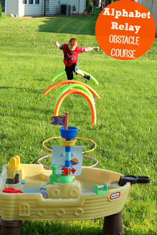 Preschoolers will learn the alphabet while running through an obstacle course! Summer fun!