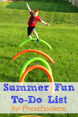 Summer bucket list for preschoolers! Have lots of fun this summer!