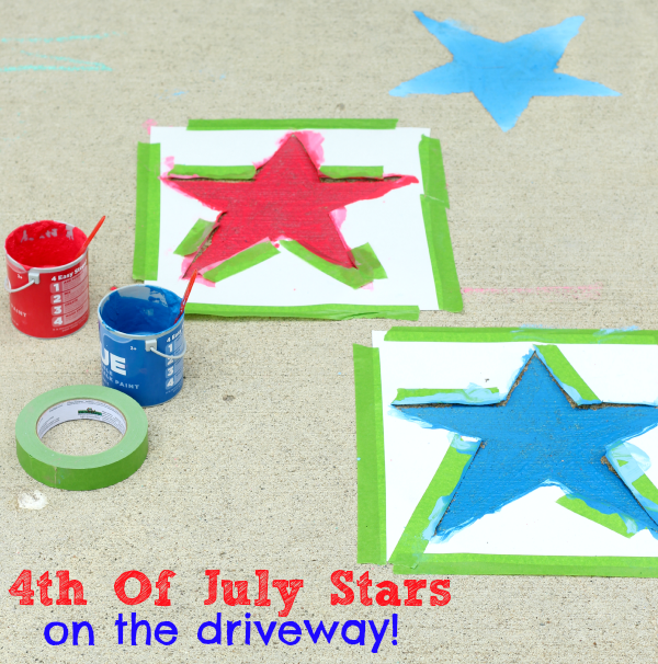 Paint stars on the driveway for the 4th of July!