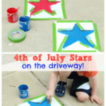 4th of July Activity: Paint Stars on the Driveway