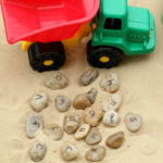 Dump Truck Alphabet Rocks Activity