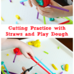 Fine Motor Activity: Cutting Straws and Play Dough