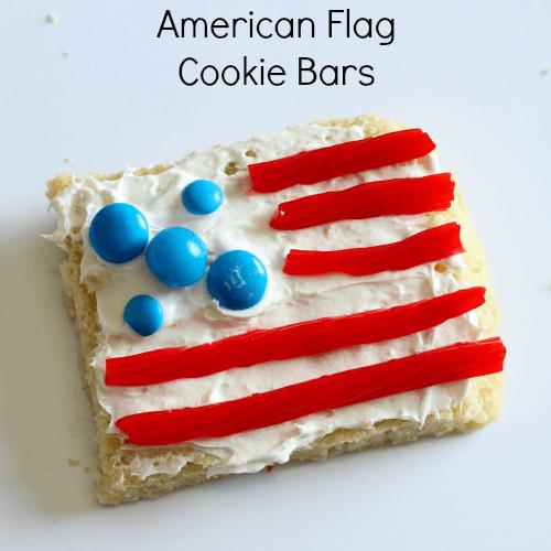 Kid-Made American Flag Cookie Bars