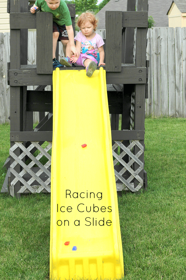 Cool off this summer while racing ice cubes down a ramp!
