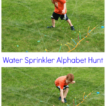 Learning ABCs with an Alphabet Hunt in the Water Sprinkler