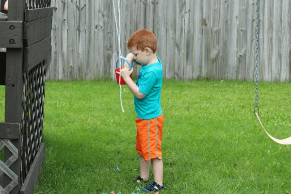 Put letters in a bucket and send them up with a rope pulley.
