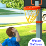 Learning Numbers with Water Balloon Basketball