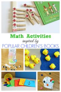 Fun math activities inspired by popular children's books.