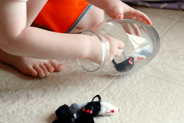 Preschool math activity inspired by Mouse Count