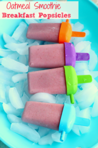 Oatmeal Smoothie Breakfast Popsicles