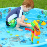 Summer STEM Activities: Blocks in a Kiddie Pool