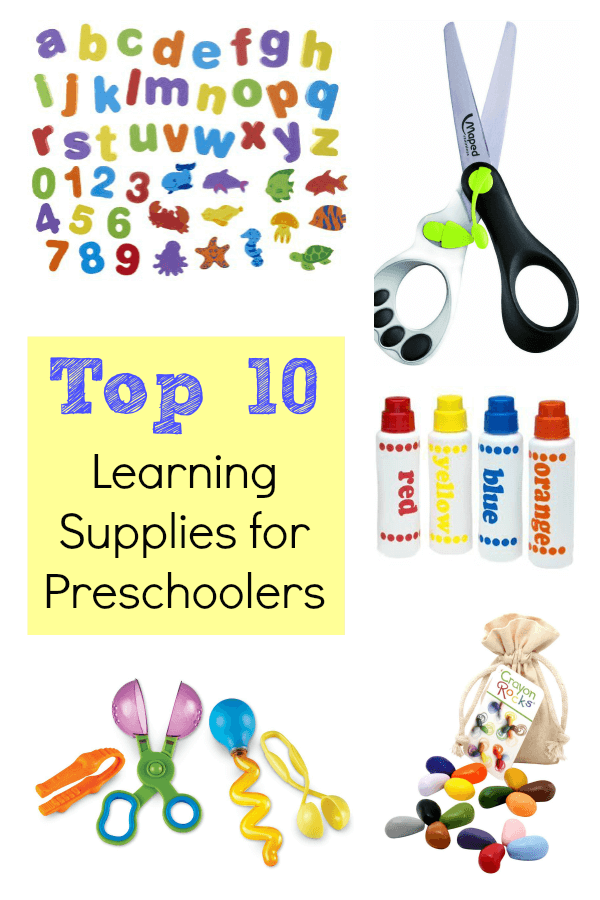 Top 10 Learning Supplies for Preschool at Home