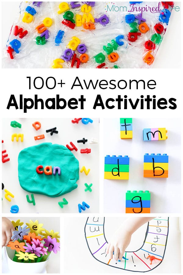 100+ awesome alphabet activities that your kids will love! Fun, hands-on and engaging ways to learn letters and letter sounds in preschool and kindergarten.
