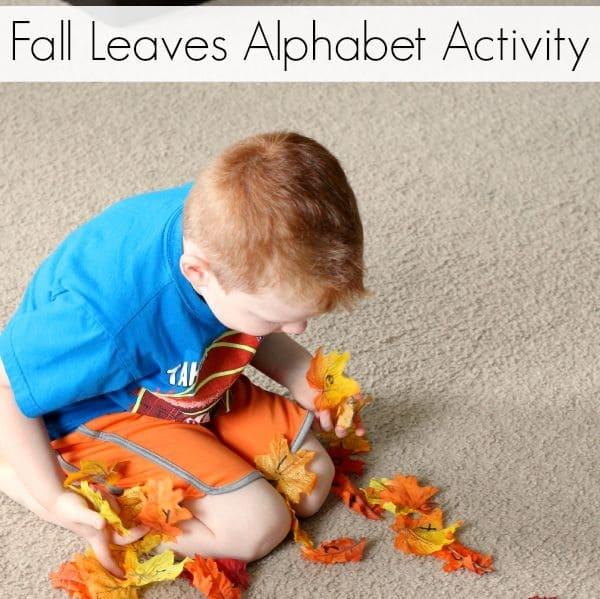 Fall alphabet activity for preschoolers!