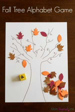 Fall Tree Roll And Cover Alphabet Game