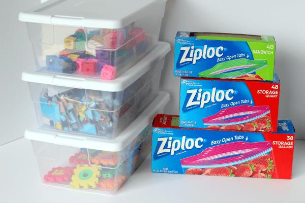 Organize preschool supplies with Ziploc bags