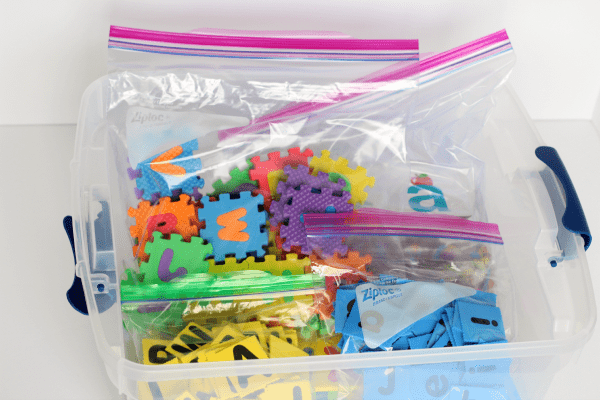 Organize learning supplies