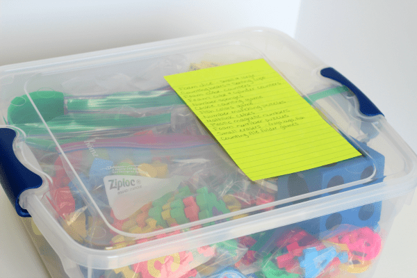 Organize learning supplies for preschool
