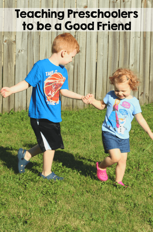 Tips for teaching preschoolers how to make friends and be a good friend.