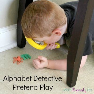 Alphabet Detective Dramatic Play Activity