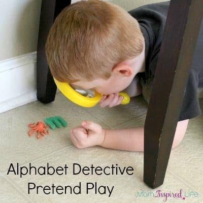 Alphabet Detective Dramatic Play Activity