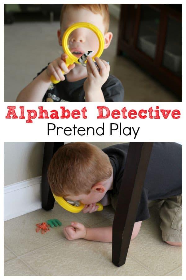 alphabet detective pretend play. Black Bedroom Furniture Sets. Home Design Ideas