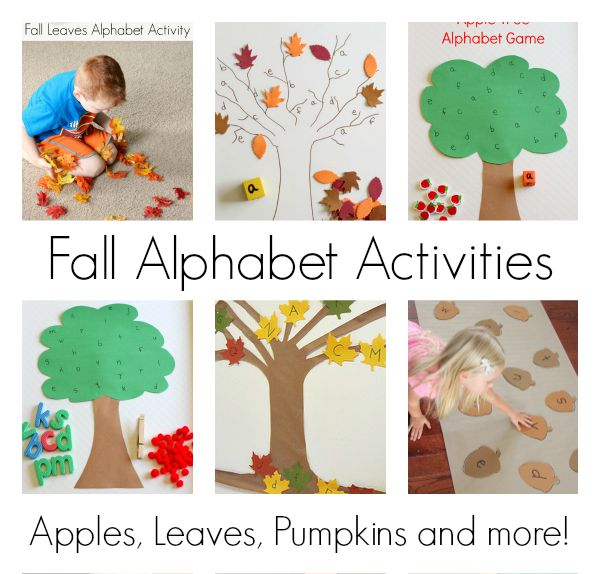 Fall alphabet activities for preschoolers.