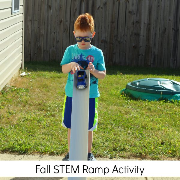 Learning letters with a Fall STEM ramp activity!