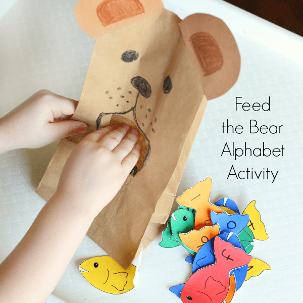 Learn the alphabet with a bear activity.