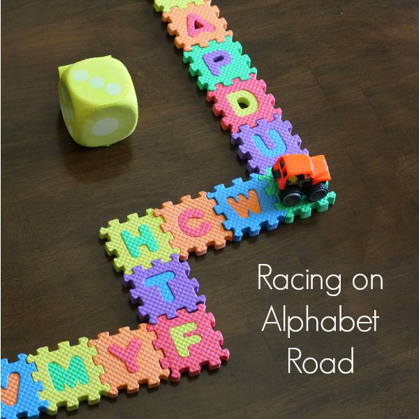 Kids will learn letters and numbers while racing cars!
