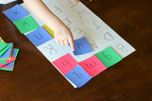 Uppercase and lowercase letter matching activity.