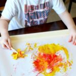 Painting with Fall Leaves Process Art