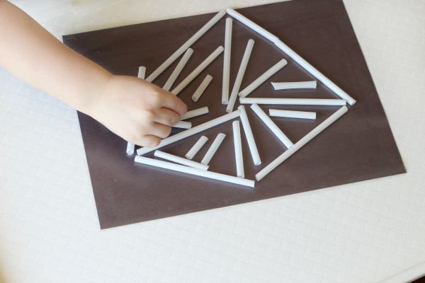 Spider web craft for fine motor practice