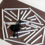 Spider Web Cutting Activity with Straws