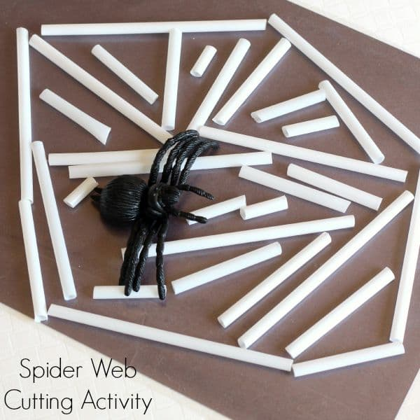 Spider web activity for preschool