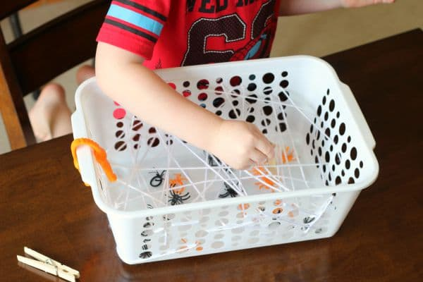 Spider theme fine motor activity for preschool