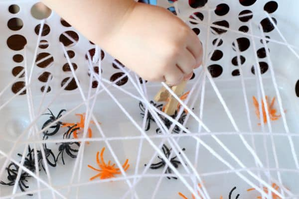 Spider web activity for preschoolers