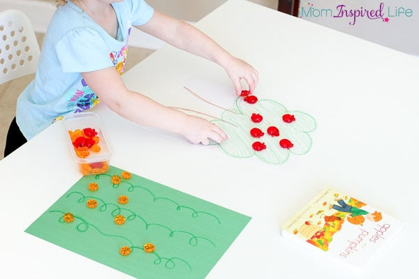 Fall sorting activity for toddlers and preschoolers.